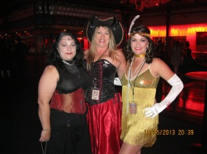 The Witch, the Wench, and the Flapper. Notice how the corset gives me superb posture.
