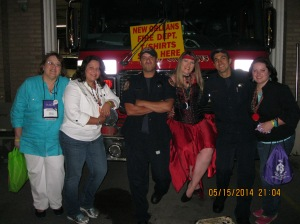 Take photo ops with New Orleans firefighters. I mean, who wouldn't, right?
