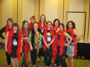 And fun reader workshops put on by moi and my fellow Ruby-Slippered Sisters.
