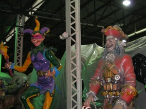 First night was spent at Mardi Gras World. Beads, sampling fare, stilt walkers and entertainers, live music on the Mississippi waterfront.