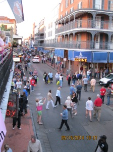 Pub Crawl on Bourbon Street. Yeah...this was sponsored by publishers. It's dangerous letting authors out in roaming hordes.