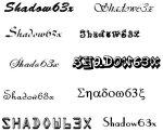 Shadow63xFonts