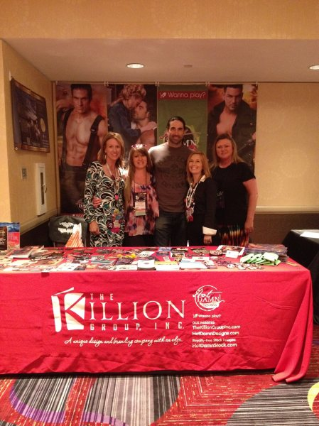 Taking time at the Trade Show to pimp my peeps - The Killion Group. Pretty sweet gig!