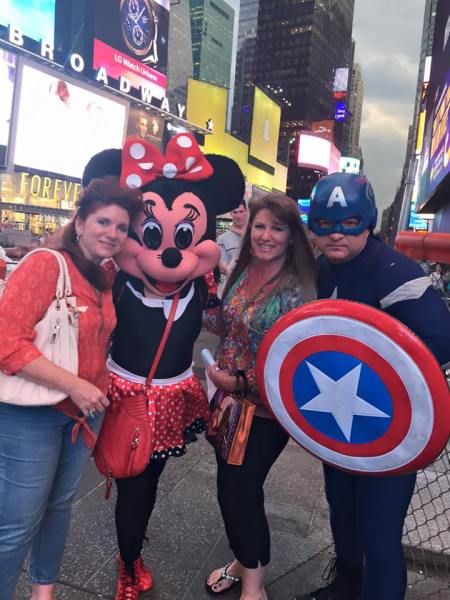 Day or night, Times Square is packed. And you never know what characters you will meet.